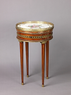 Louis XVI round table with sevres top