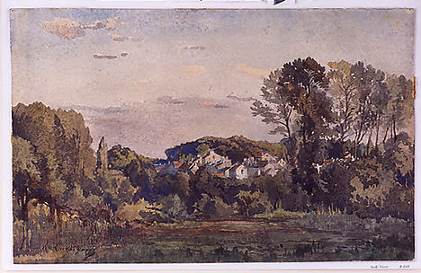 Landscape with a Distant Town
