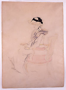 Seated Lady with Hat