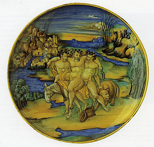 Dish (coppa): The satyr Silenus on an Ass