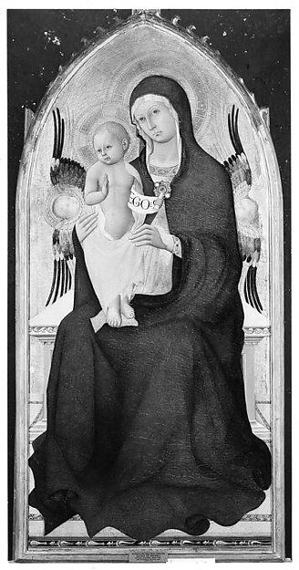 Madonna and Child Enthroned with Two Cherubim