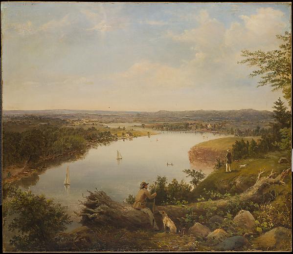 The Hudson River Valley near Hudson, New York