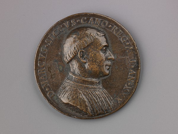 Medal:  Bust of Marco Sicco