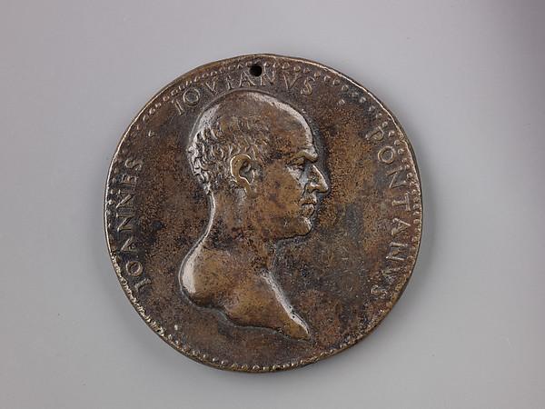 Medal:  Giovanni Giovano Pontano