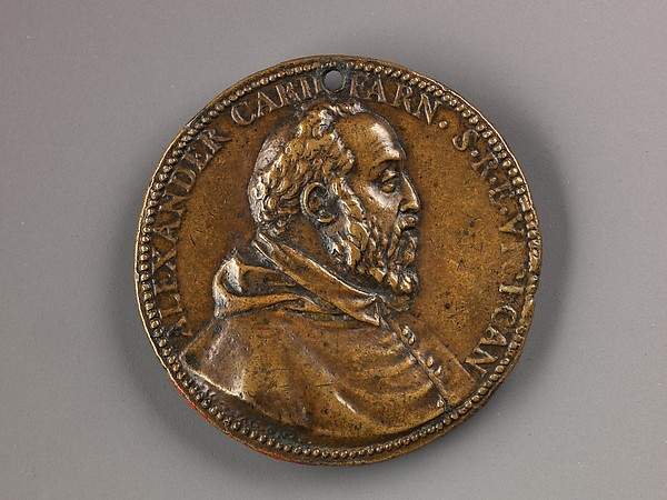 Medal:  Bust of Cardinal Alessandro Farnese