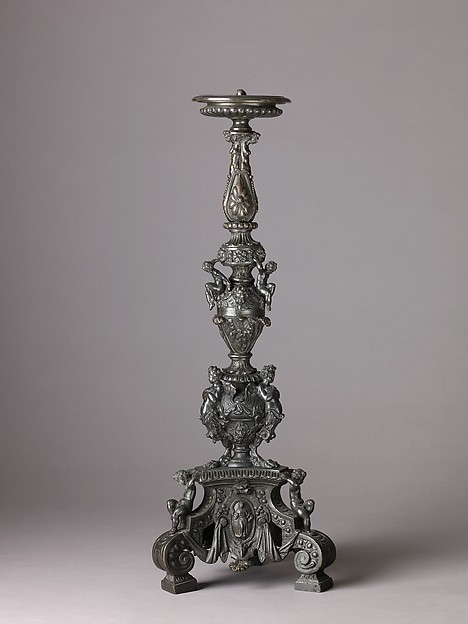 Candlestick Supported by Putti (pair with .1380)