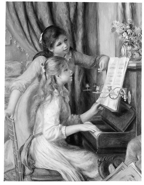 Two Young Girls at the Piano