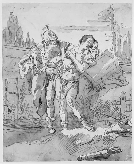Rinaldo Persuaded by Ubaldo and Guelfo to Abandon Armida