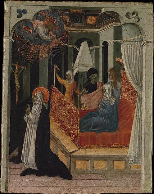 Saint Catherine of Siena Beseeching Christ to Resuscitate Her Mother