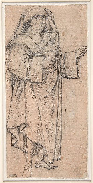 Standing Scholar (Prophet?) Turned to the Right (Recto); Standing Scholar (Prophet?) Turned to the Left (Verso)