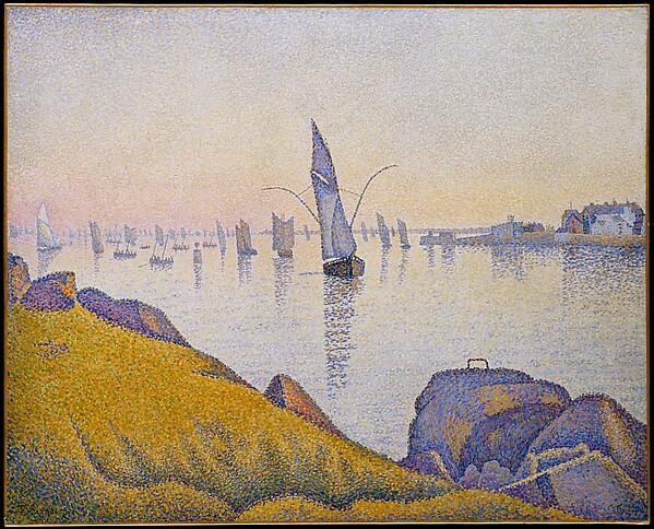 Calme du soir, Concarneau - Paul Signac -. Opus 220 (1891), huile sur toile, Metropolitan Museum of Art,