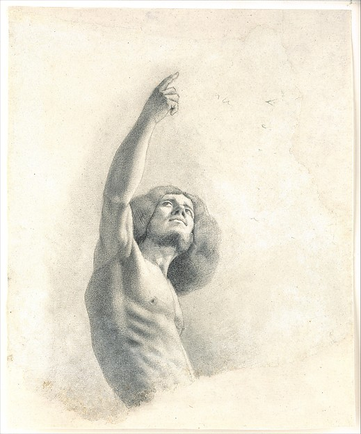 Self-Portrait with Upraised Arms