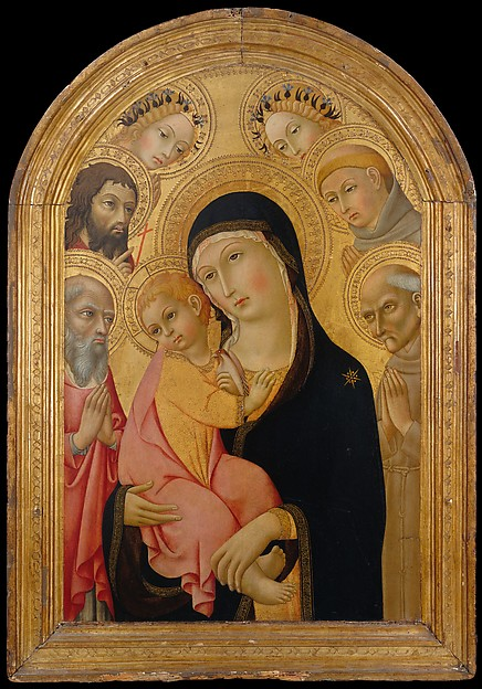 Madonna and Child with Saints Jerome, Bernardino, John the Baptist, and Anthony of Padua and Two Angels