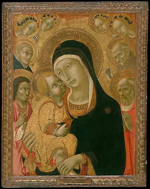 Madonna and Child with Saints John the Baptist, Jerome, Peter Martyr, and Bernardino and Four Angels