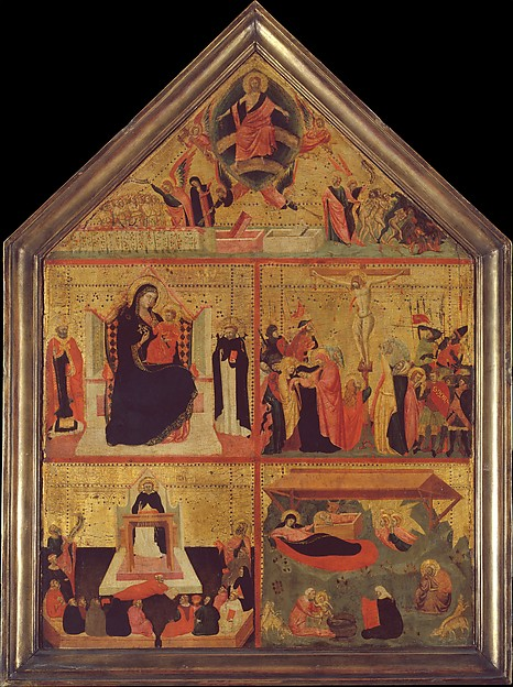 The Last Judgment; Madonna and Child with Saints; The Crucifixion; The Glorification of Saint Thomas Aquinas; The Nativity