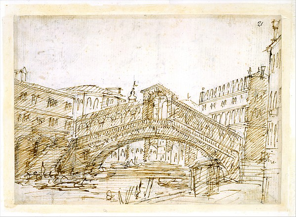 R) A Magnificent Pavilion by the Lagoon V) The Grand Canal, with the Rialto Bridge from the South