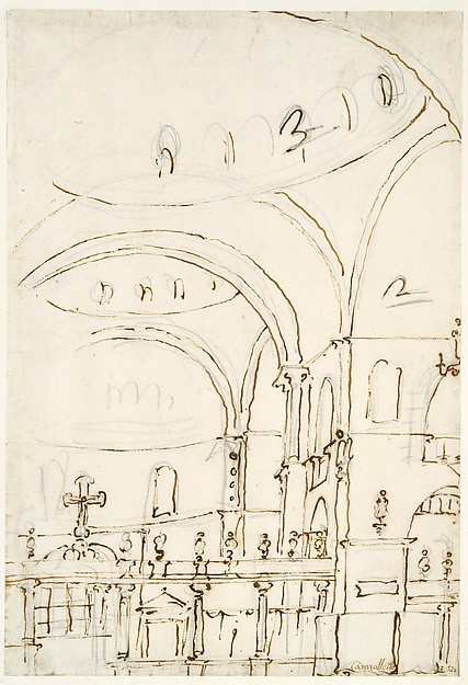 Interior of the Basilica of San Marco, Showing the Crossing and the Choir