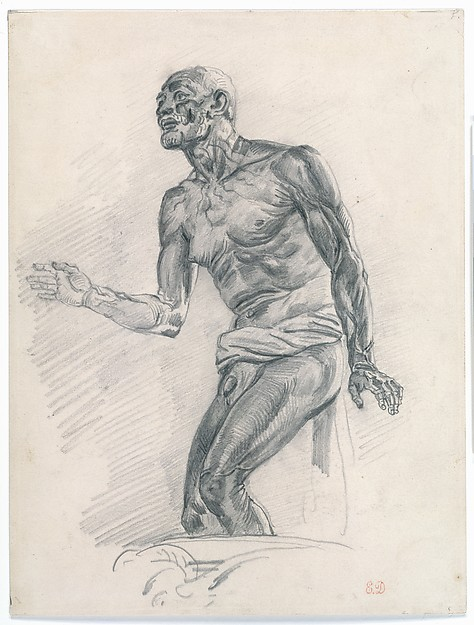 "Study of a Male Nude Study for ""The Death of Seneca"""