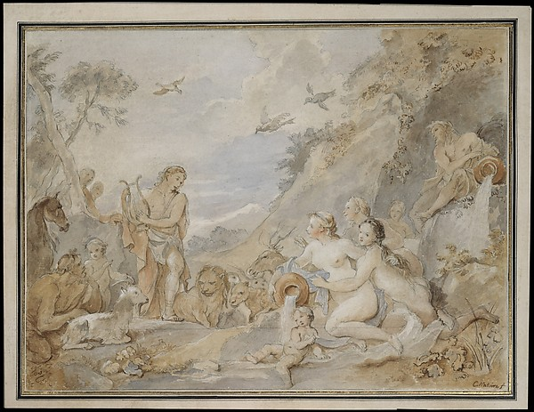 Orpheus Charming the Nymphs, Dryads, and Animals