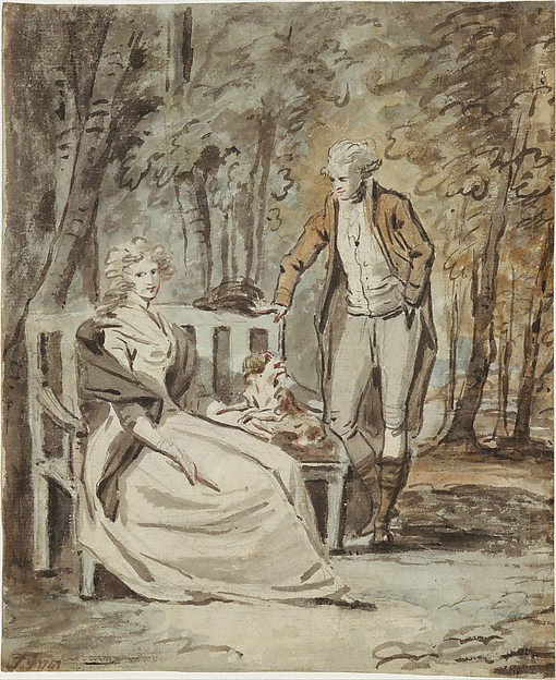 Study for a Portrait: A Lady and a Gentleman in a Park