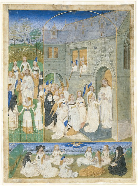 The Holy Virgins Greeted by Christ as They Enter the Gates of Paradise