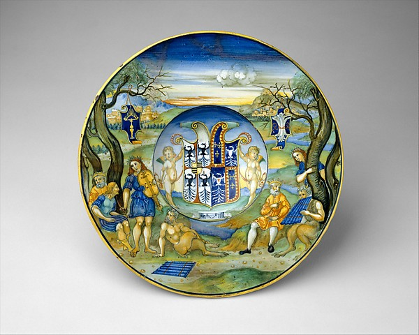 Armorial Plate (tondino): The story of King Midas