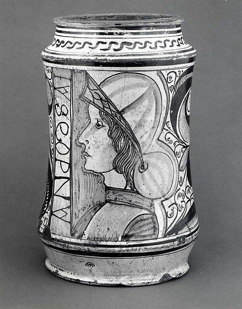Maiolica: Apothecary jar (albarello)