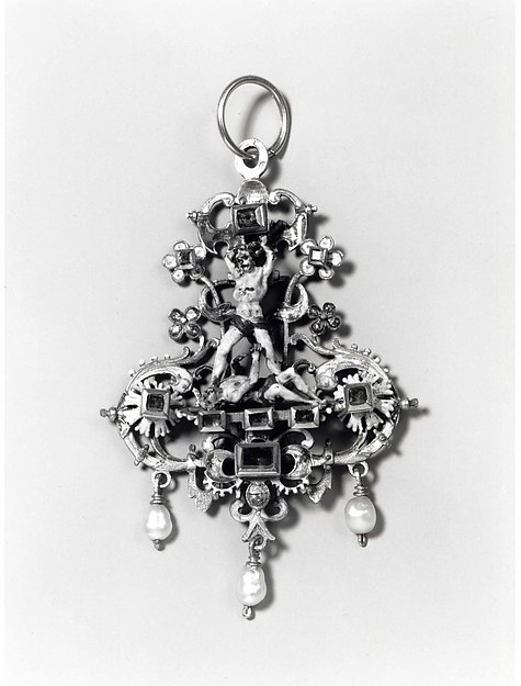 Pendant with Cain and Abel