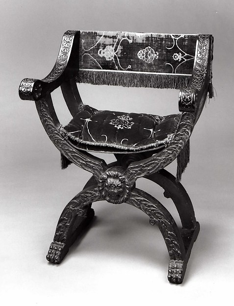Hip-joint armchair (Dantesca type, associated with 1975.1.1976 a,b)