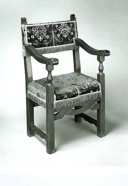 Armchair back and seat