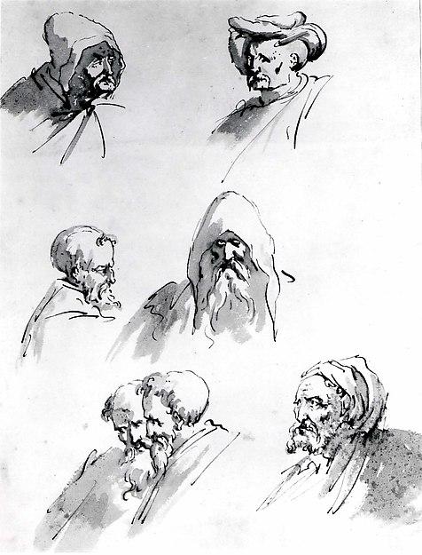 Seven Male Heads