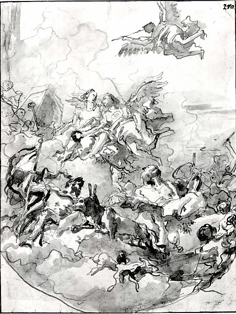 Sketch for a Ceiling with an Allegory of Fortitude and Wisdom