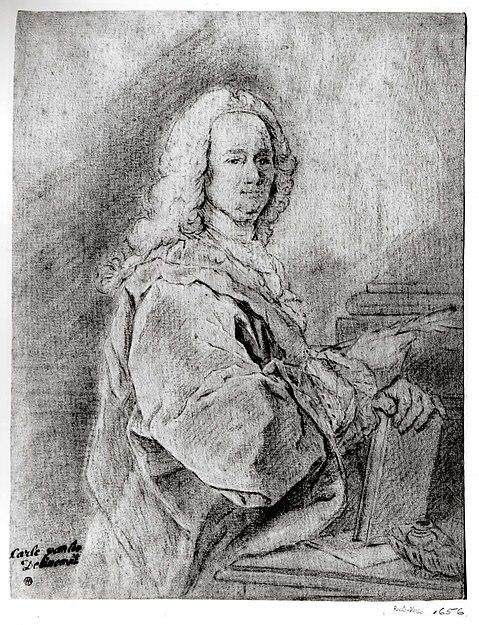 Portrait of a Man Holding a Pen