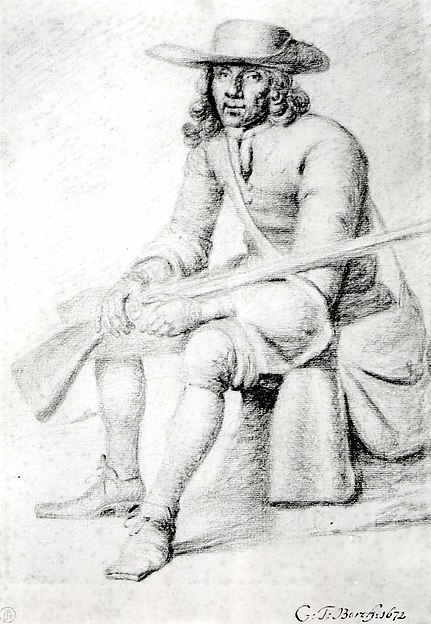 A Seated Huntsman