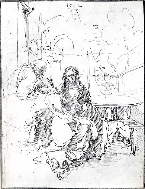 The Holy Family in an Enclosed Garden