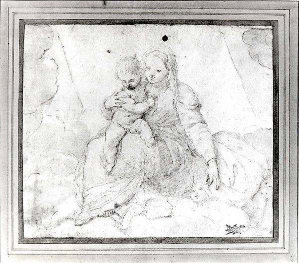 Madonna and Child Seated on a Cloud