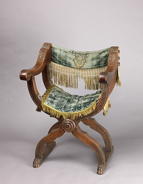 Hip-joint armchair (Dantesca type, associated with 1975.1.1971 a,b)