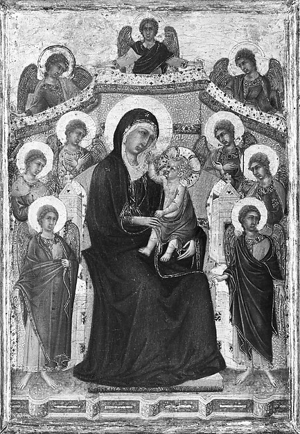 Madonna and Child with Nine Angels