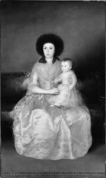 Condesa de Altamira and Her Daughter, María Agustina