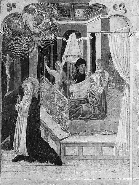 Saint Catherine of Siena Beseeching Christ to Resuscitate Her Mother