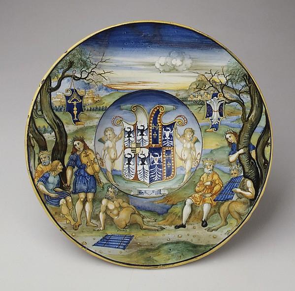 Armorial Plate (tondino): The story of King Midas