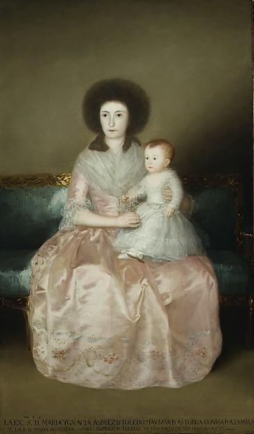 Condesa de Altamira and Her Daughter, María Agustina