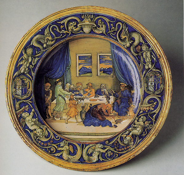 Armorial dish: Supper at the House of Simon the Pharisee
