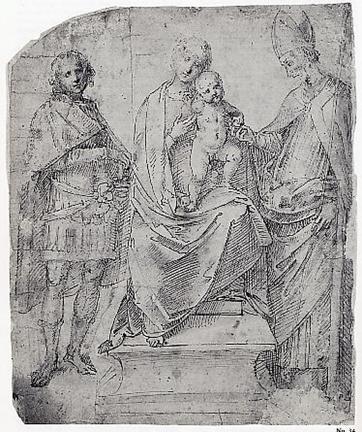 Madonna and Child with Saints Martin and Maurice (?)