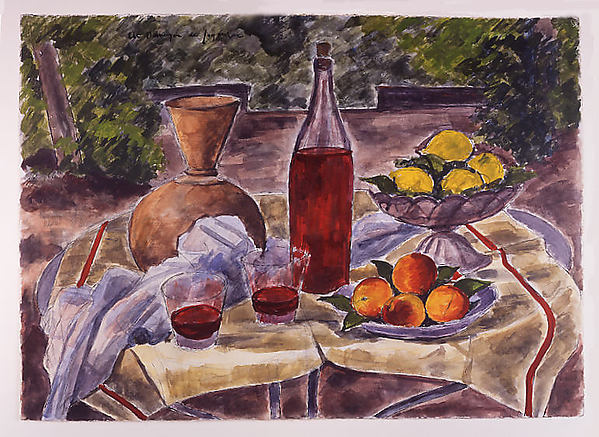 Still Life with Two Glasses of Wine