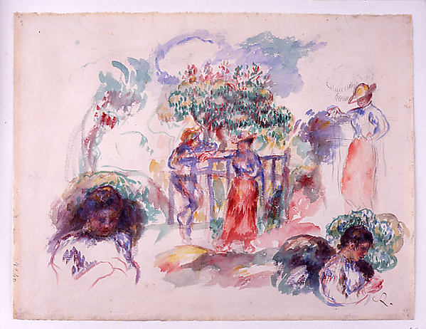 Figures under a Tree