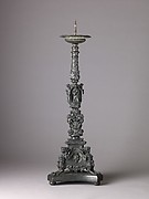 Candlestick with figures of caryatids and putti