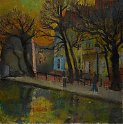 Street along the Canal Saint-Martin, Paris