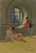 Ballet Dancers in the Attic Rotunda, Paris Opéra (Danseuse à l'Oeil-de-boeuf, Opéra de Paris)