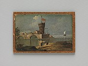 Capriccio with a Circular Tower, Two Houses, and a Bridge